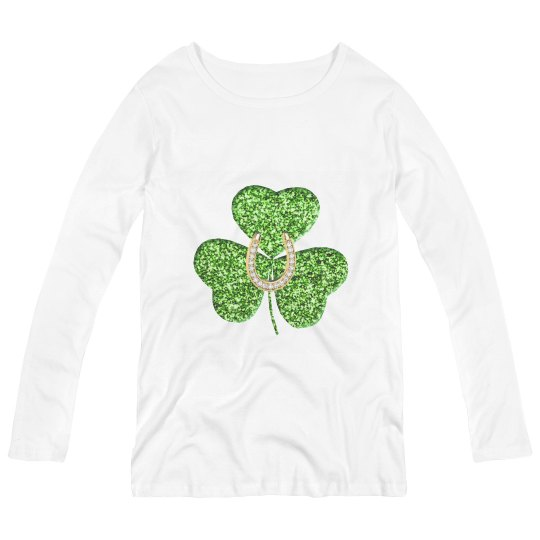 Shamrock And Horseshoe Maternity Shirt