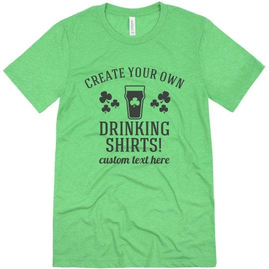 Shamrock Custom Drinking Shirt