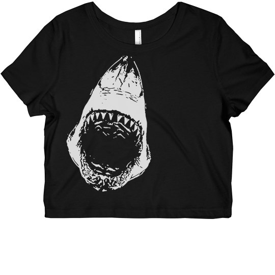 Shark Attack Crop Top