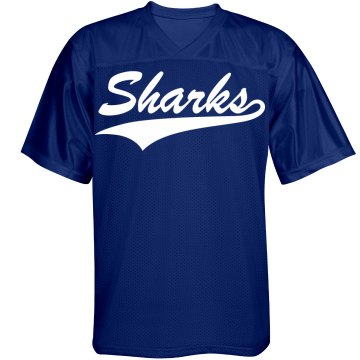 Sharks custom name and number sports jersey