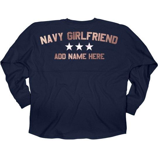 Shiny Custom Navy Girlfriend Jersey
