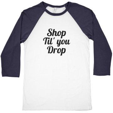 Shop til' you drop cropped tee