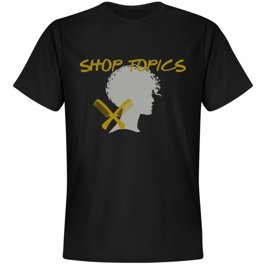 SHOP TOPICS TEE - BLACK N GOLD