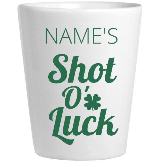 Shot O' Luck Irish Shot Glass