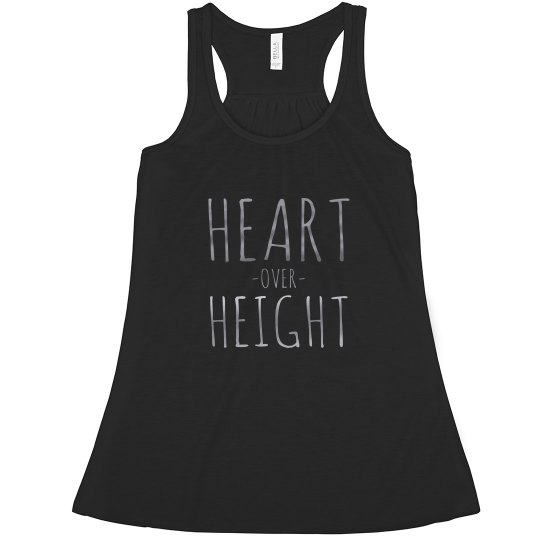 Silver Heart Over Height