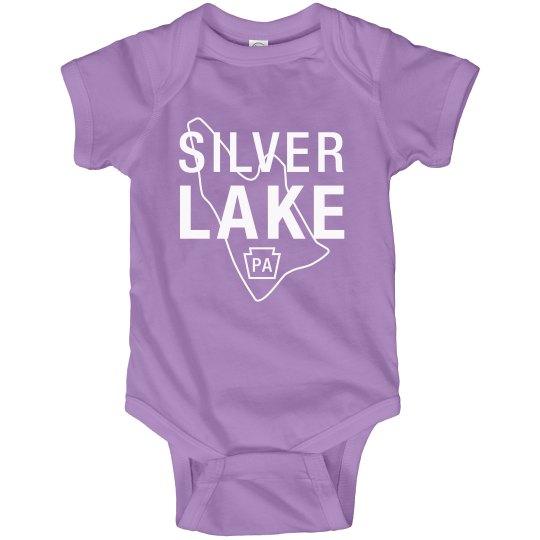 SILVER LAKE Infant onesie