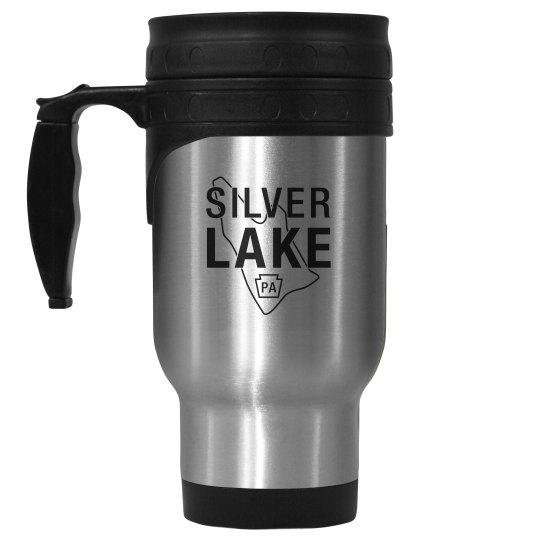 SILVER LAKE stainless travel mug