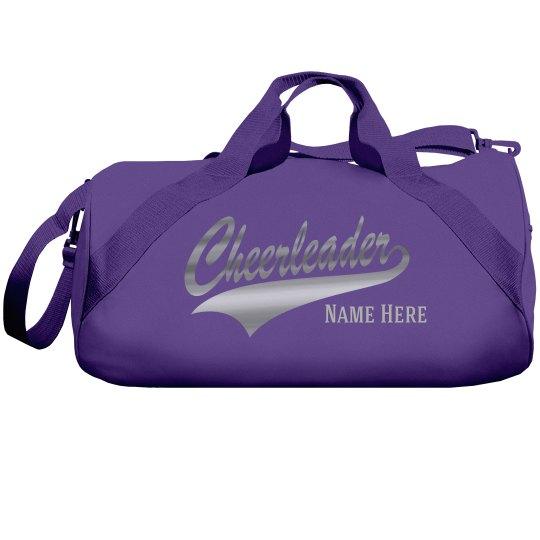 Silver Metallic Custom Cheer Bag