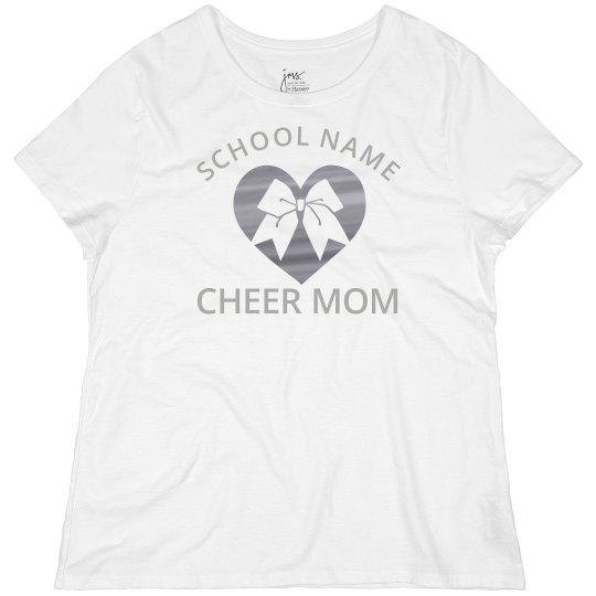 Silver Metallic Custom Cheer Mom Plus