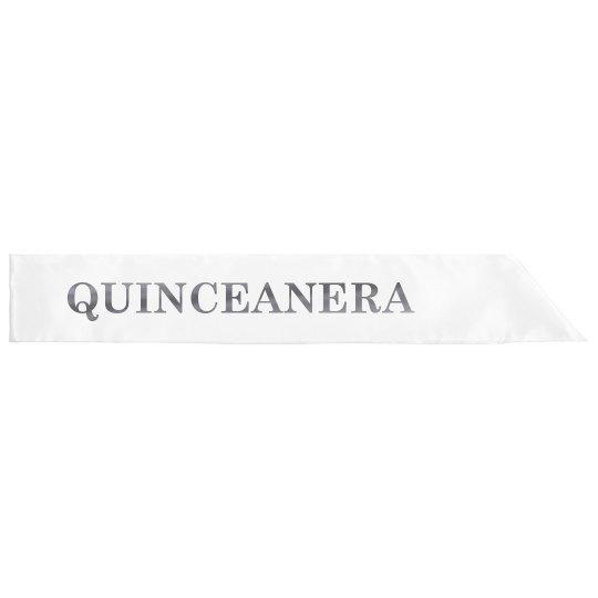 Silver Metallic Quinceanera 15 Años