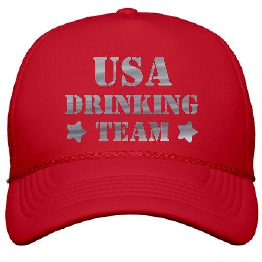 Silver Metallic USA Drinking Team