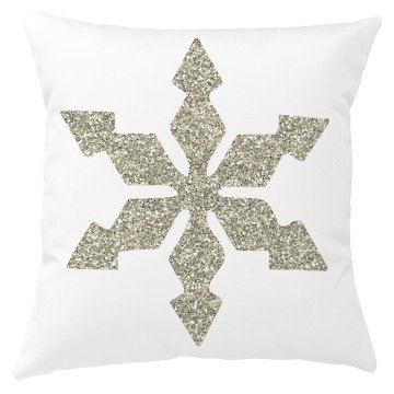 Silver Snowflake Christmas Pillow