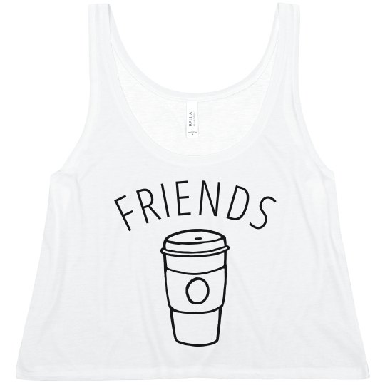Simple Coffee And Donuts Friends