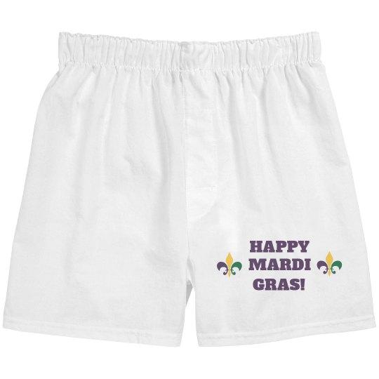 Simple Happy Mardi Gras