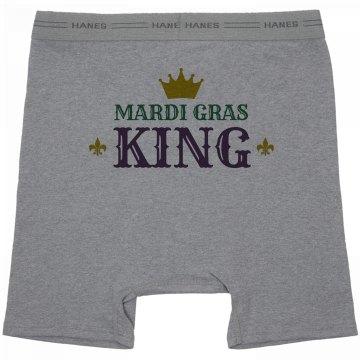 Simple Mardi Gras King Grey