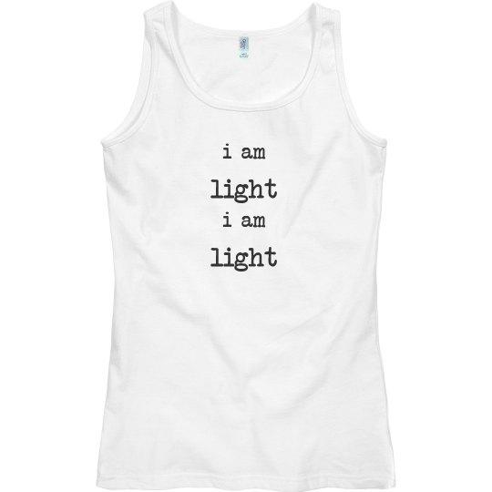 singlet top i am light