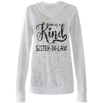 Sister in Law Gifts -Lightweight Burnout Hooded T-Shirt