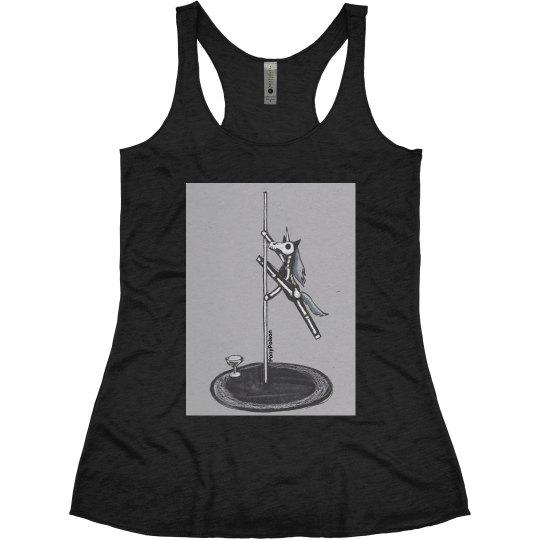 Skeleton Unicorn Pole Dancer