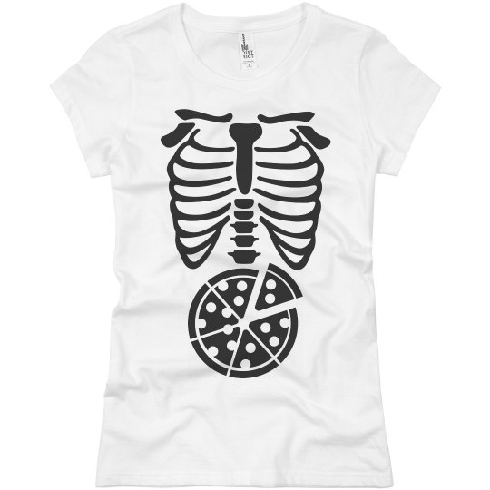 Skeleton X-Ray Pizza