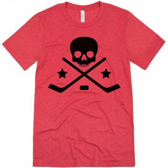 Skull and Sticks Hockey T-Shirt