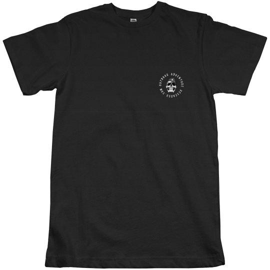 Skull logo dark shirt