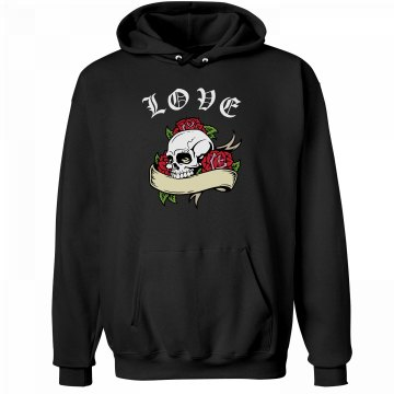 Skull Love Hoodie