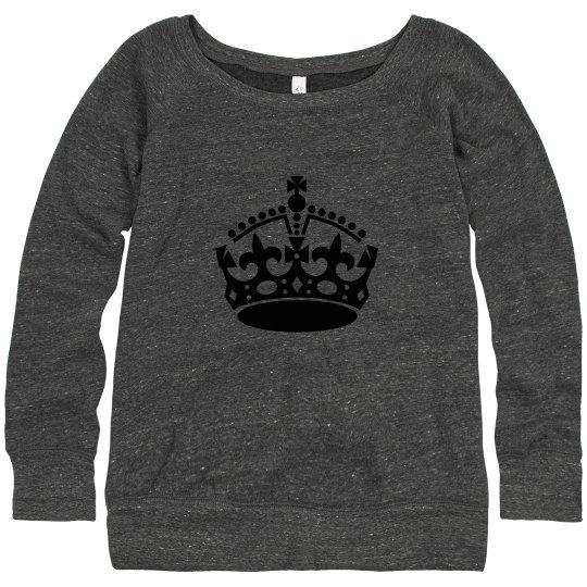 Slouchy sweater cheer mom