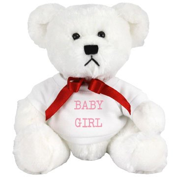 Small Baby Girl Stuffed Bear