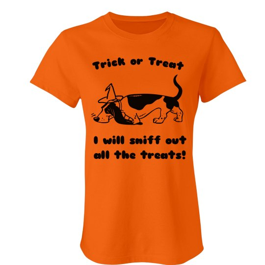 Sniff out all the treats t-shirt