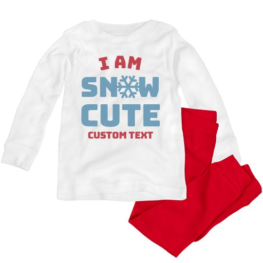 Snow Cute Christmas Toddler Pajama Set