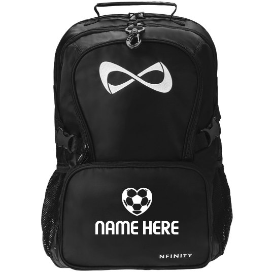 Soccer Fan Black Nfinity Backpack With Custom Name