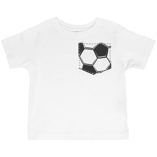 Soccer Faux Pocket Tee for Toddlers