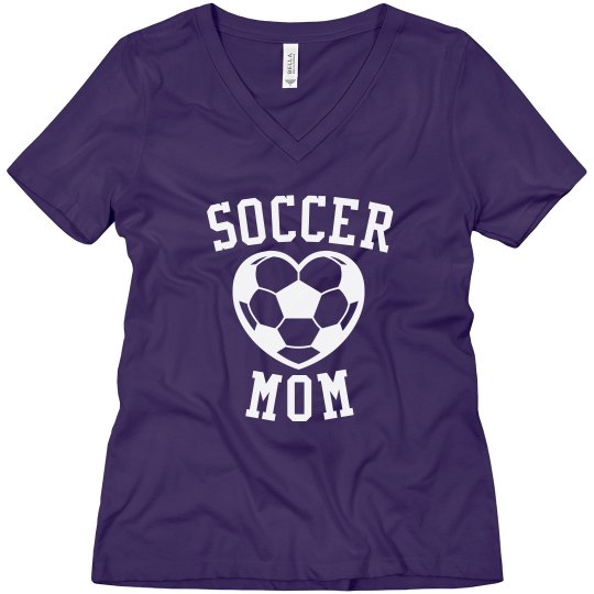 Soccer Mom heart shirt