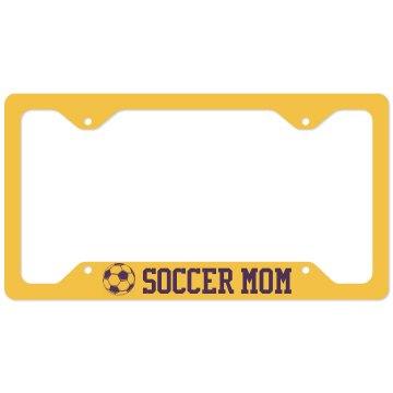Soccer Mom Plate Cover