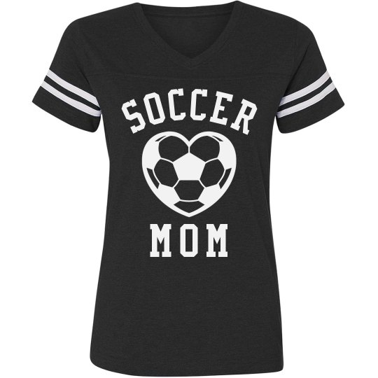 Soccer Mom Striped Tee