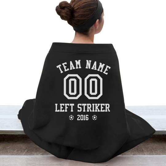 Soccer Player Custom Blanket