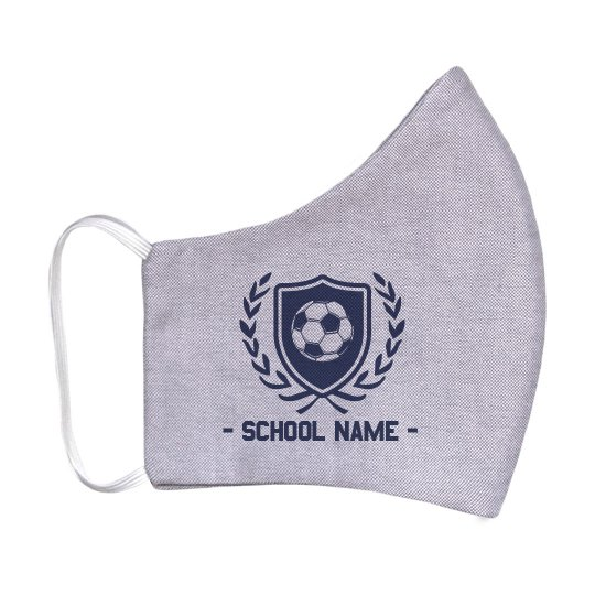 Soccer Shield Custom School Mask