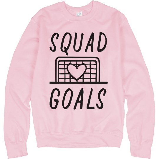 Soccer Squad Goals Custom Name