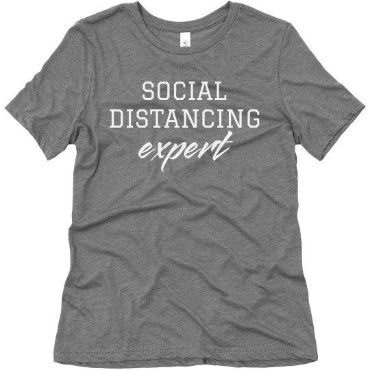 Social Distancing Expert Introvert Tee