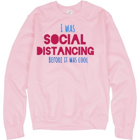 Social distancing sweatshirt - pink