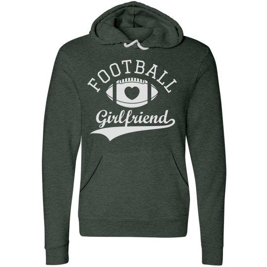 Soft Football Girlfriend Hoodies