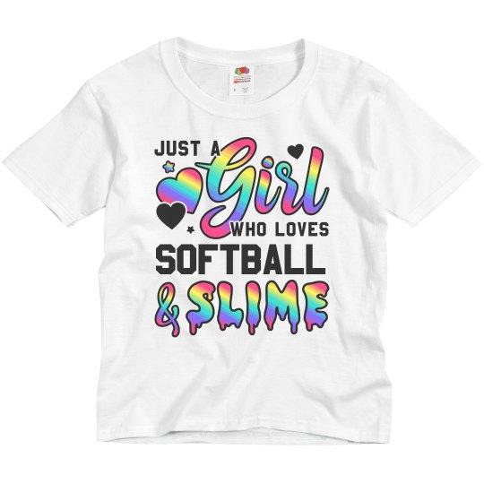 Softball And Slime Kids Girls Gift
