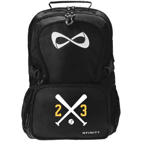 Softball Girl Black Nfinity Backpack With Custom Number