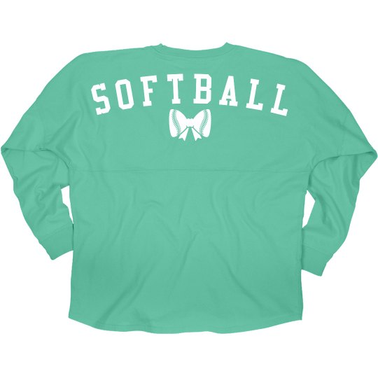 Softball Girl Bow Jersey