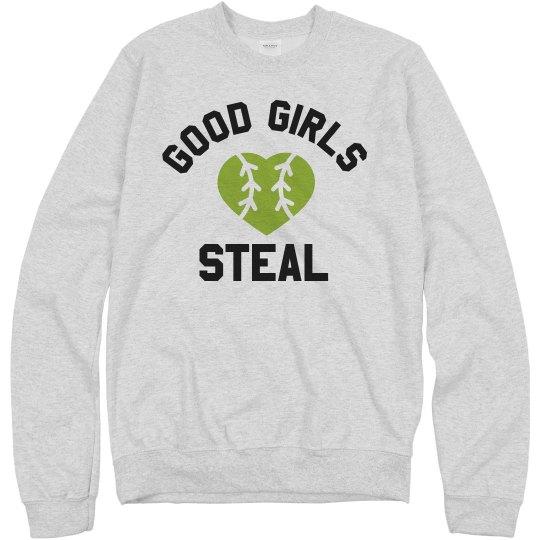 Softball Girls Steal Sweatshirt