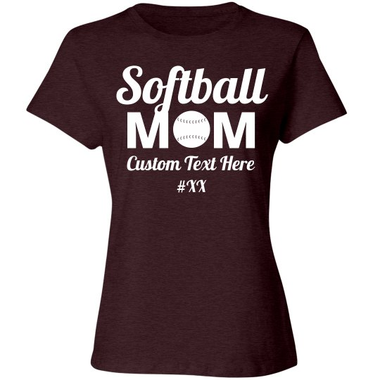 Softball Mom Custom Number