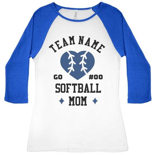Softball Mom Custom Team Raglans