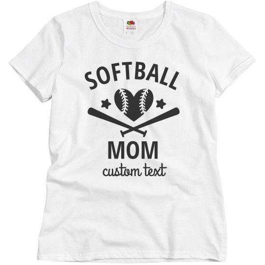 Softball Mom Customizable Tees