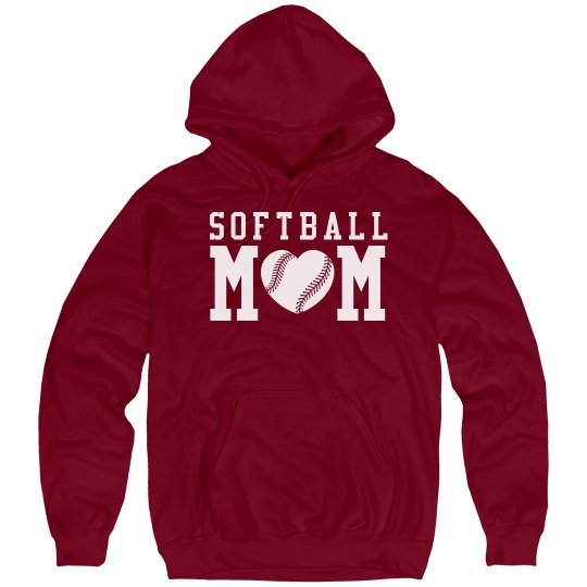 Softball Mom Hoodies to Customize With Name Number