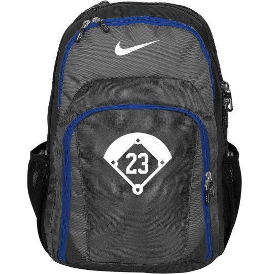 Softball or Baseball Nike Backpack With Custom Number